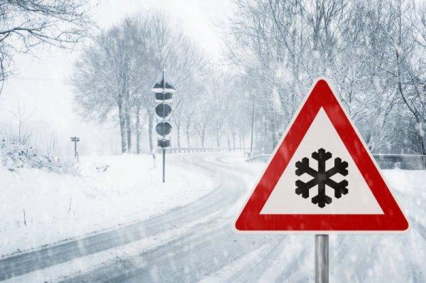 Schneewarnsignal ©shutterstock.com/Olaf Naami