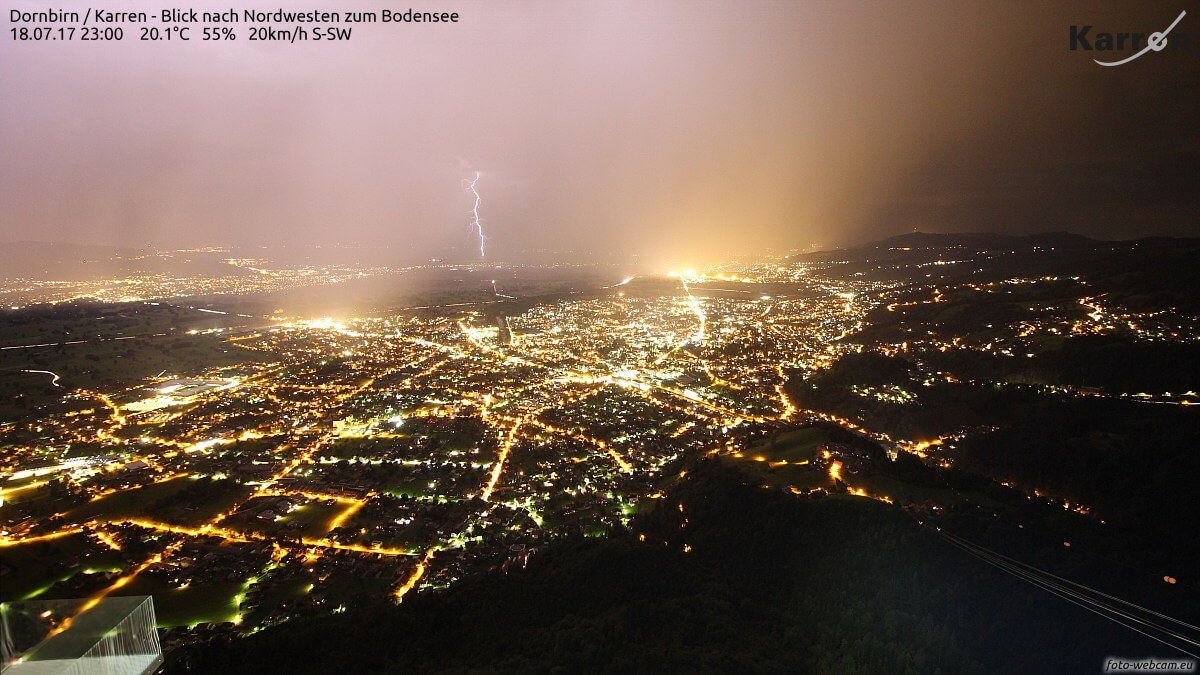 Gewitter im Rheintal © https://www.foto-webcam.eu/webcam/dornbirn