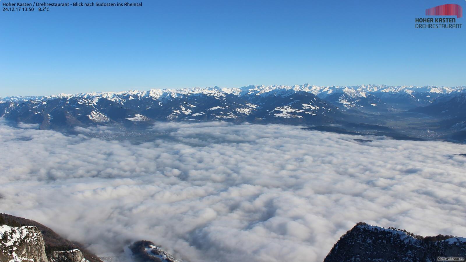 Über dem Nebel strahlend sonnig ©http://www.foto-webcam.eu/webcam/hoherkasten