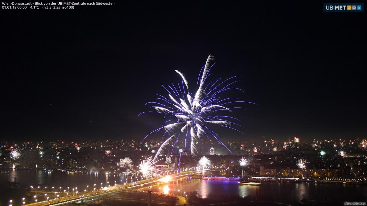 Feuerwerk in Wien. © www.foto-webcam.eu