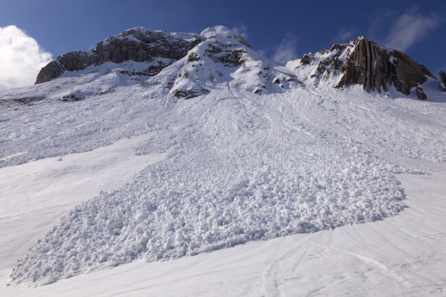 Schneebrett in Italien. @shutterstock.com