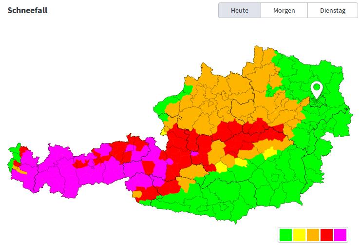 Viel Schnee vom Arlberg bis zum Mariazellerland. www.uwz.at