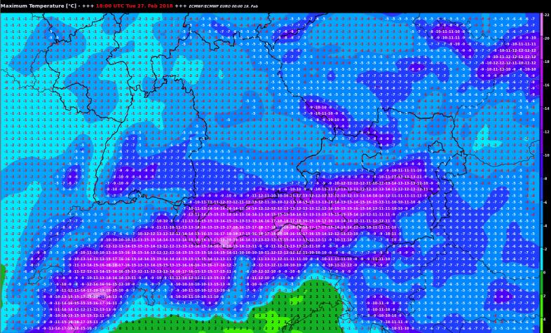 Kältewelle stösst bis an die Alpen vor.