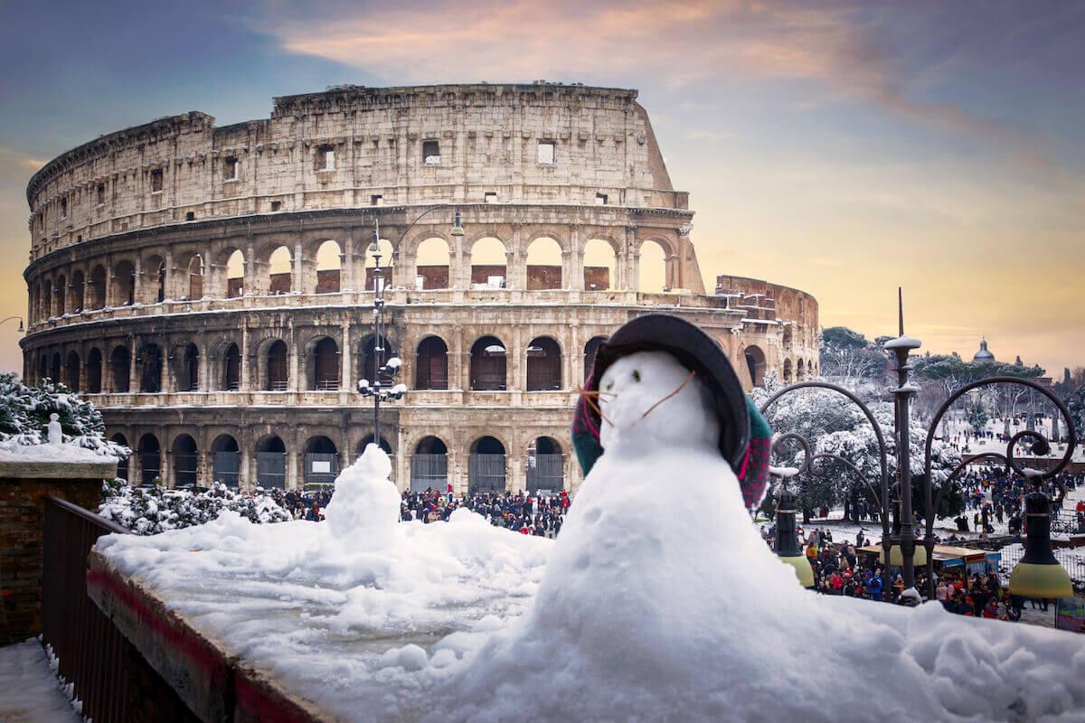 Rom im Schnee. @shutterstock.com/Francesco Todaro
