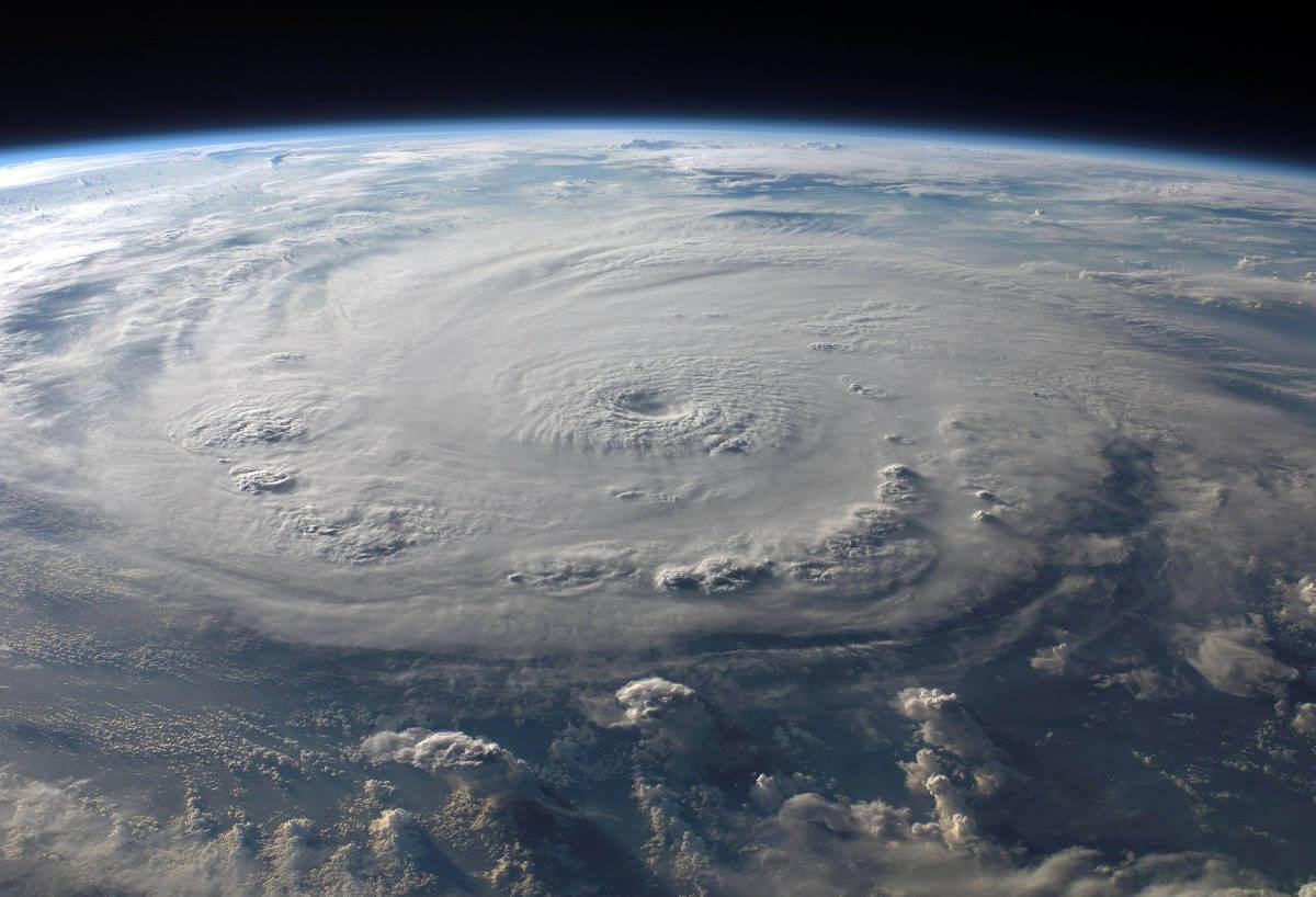 Hurrikan vom All aus gesehen © pixabay
