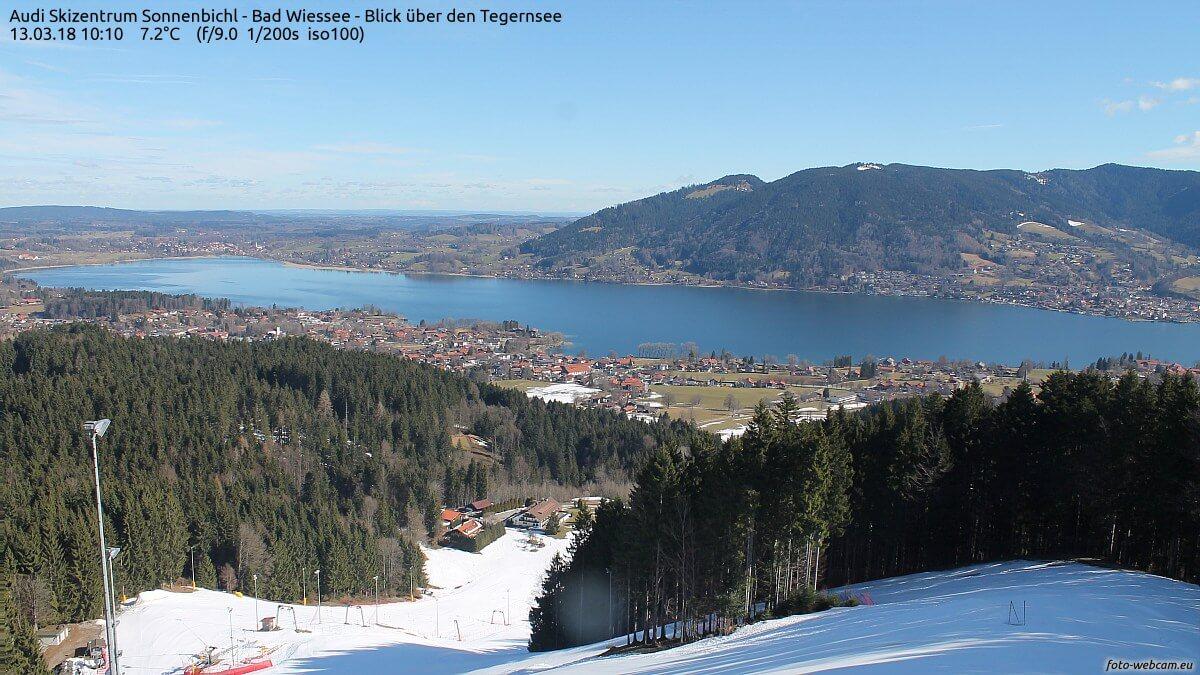 Winter und Frühling am Oberbayrischen Alpenrand. © http://www.foto-webcam.eu/webcam/sonnenbichl