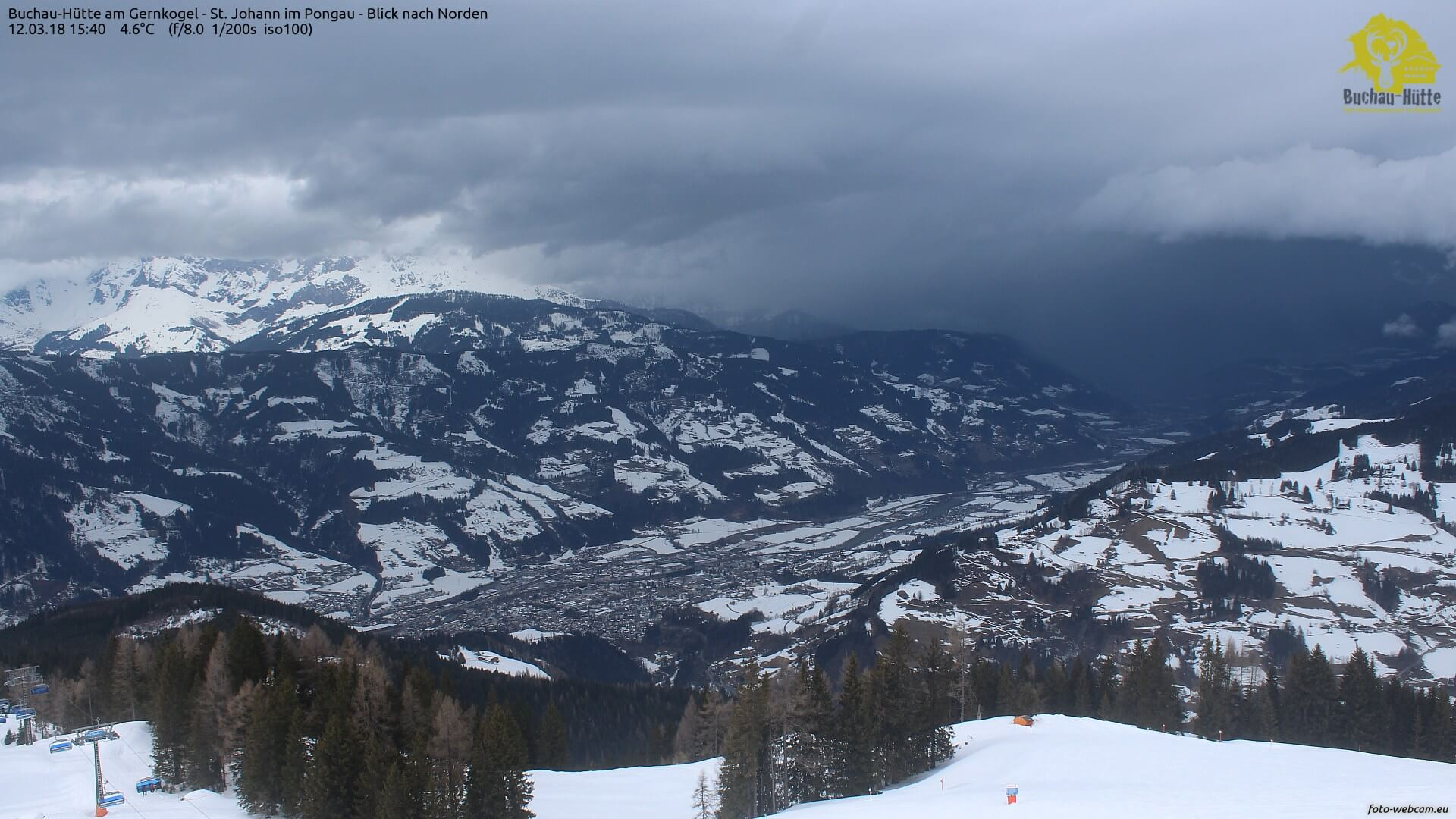 Gewitter in den Alpen. © foto-webcam.eu