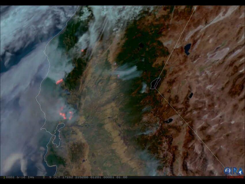 Waldbrände sichtbar gemacht mittels Satallit © CIRA