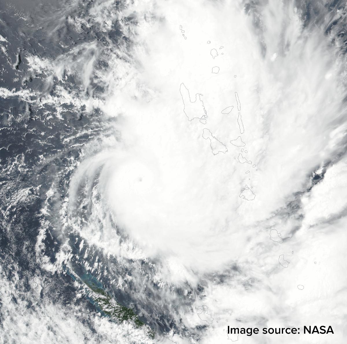 Blick auf Zyklon HOLA vom Weltall aus ©NASA