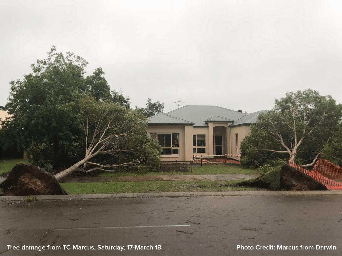 Zerstörungen in Darwin durch Zyklon MARCUS