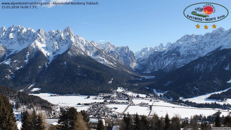 Perfekts Skiwetter © https://www.foto.webcam/suedtirol/pustertal/toblach/alpenhotel-ratsberg
