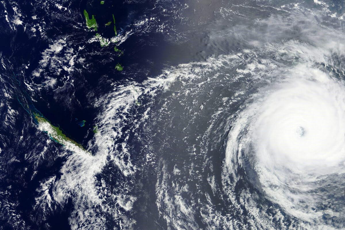 Satellitenbild von einem Zyklon über der Südsee ©lavizzara