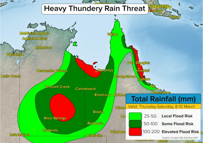 Nordaustralien Regenmengen