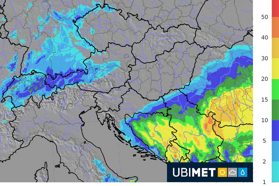 24-h Schneeprognose bis Freitagmorgen. © UBIMET