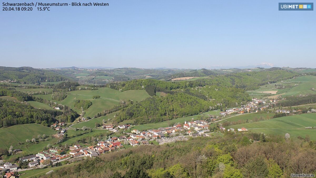 Herrlicher Frühling auch in der Buckligen Welt @ https://www.foto-webcam.eu/webcam/schwarzenbach/