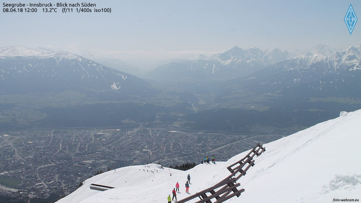 Diesige Luft in Innsbruck. © foto-webcam.eu