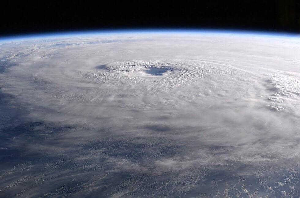 Hurrikan Maria. Courtesy of Paolo Nespoli / NASA.