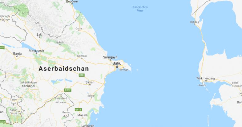 Exponierte Lage von Baku © Google Maps