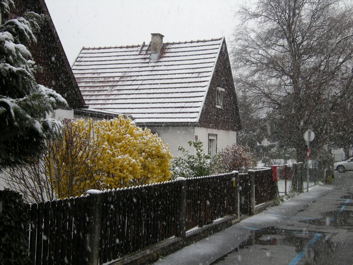 Schnee im Frühling. © Nikolas Zimmermann