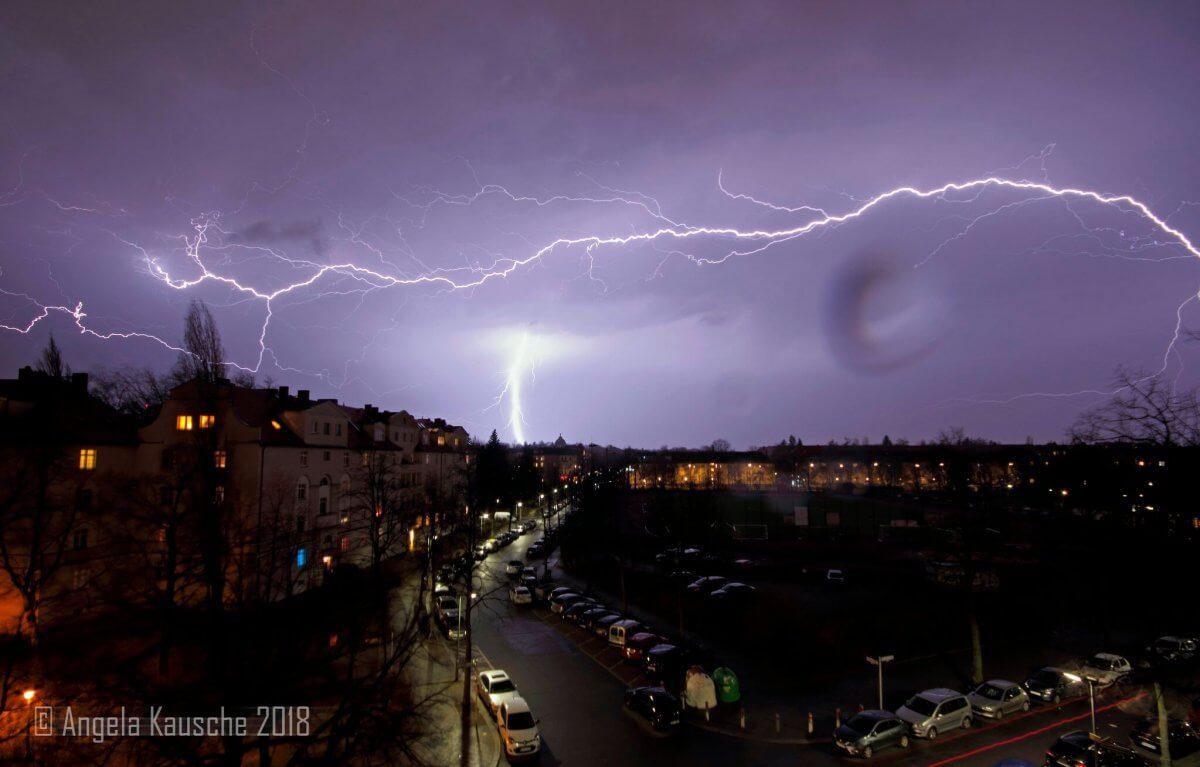 Gewitter gestern Abend in Berlin © Angela Kausche (Twitter)