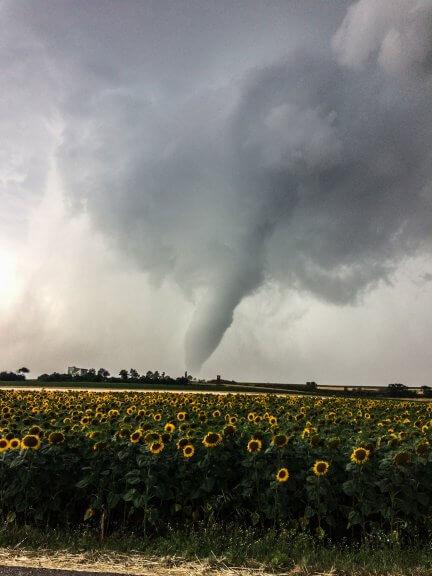 Tornado südlich von Wien am 10. Juli 2017 © Stormhunters Austria