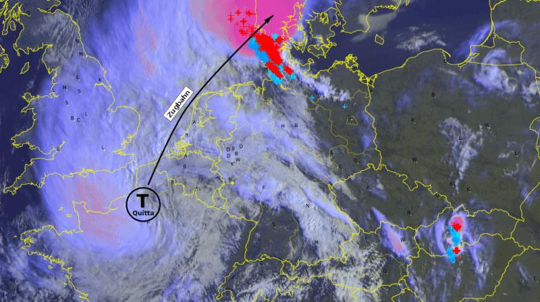 Satellitenbild von 09:30 Uhr ©METEOSAT, NOWCAST