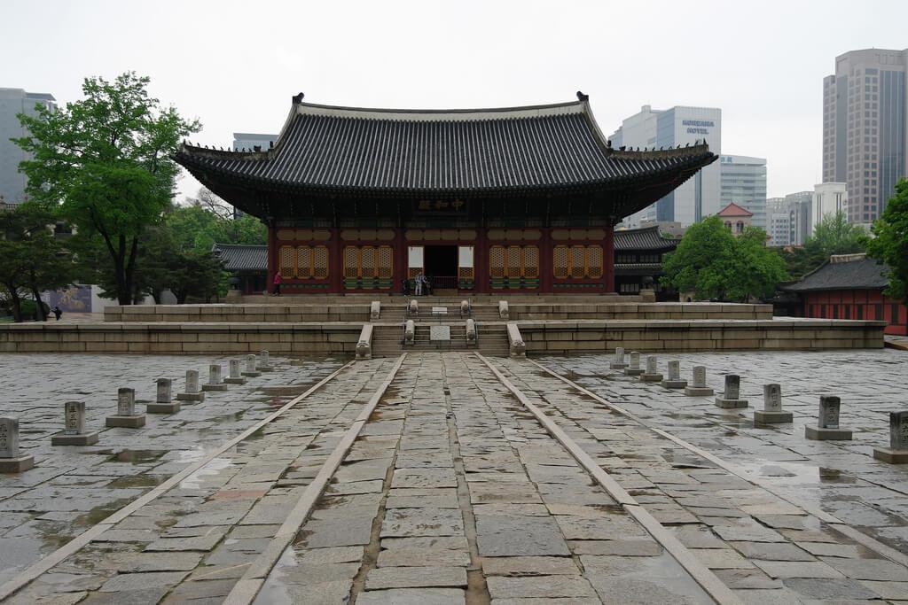 Regnerisches Wetter in Seoul