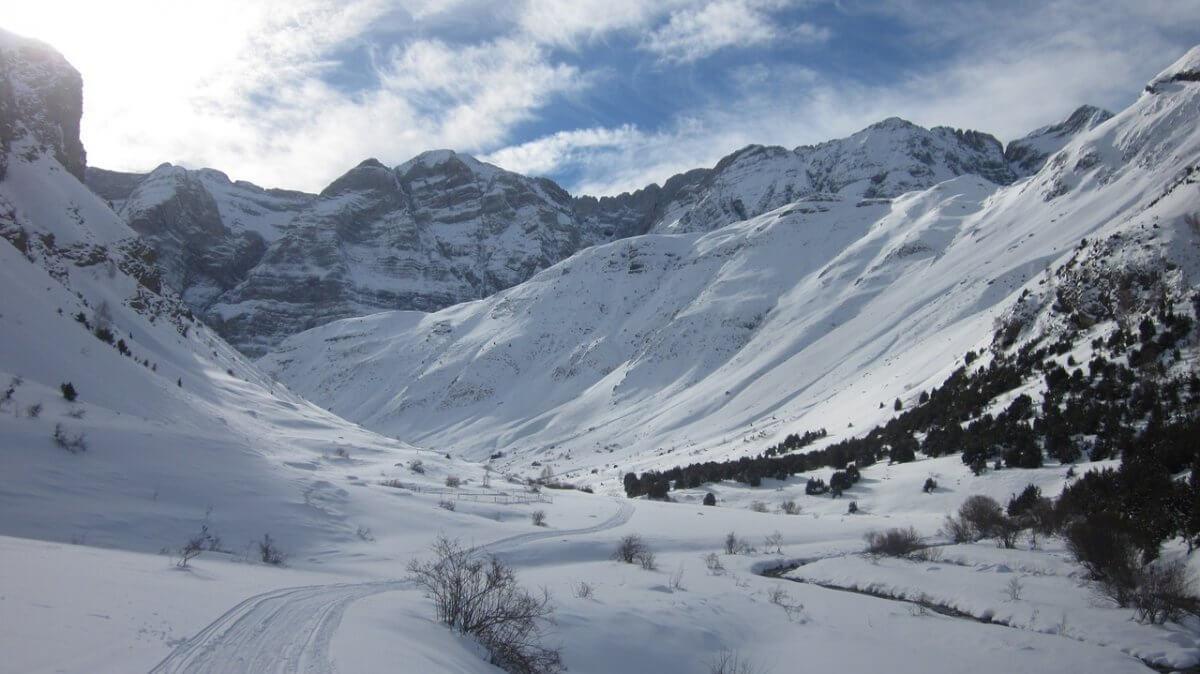 Schnee in Spanien/Pyrenäen.