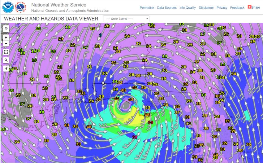 Der tropische Sturm Alberto. © NOAA