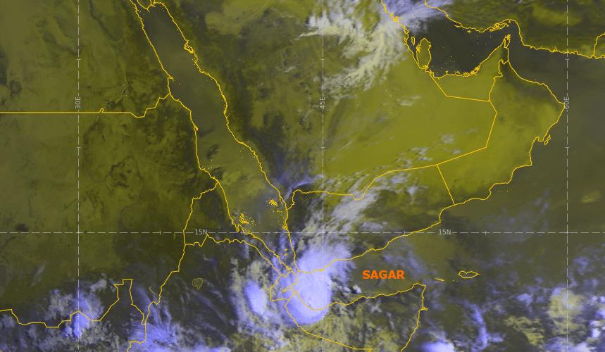 Der tropische Sturm Sagar am Samstag. © UBIMET / EUMETSAT