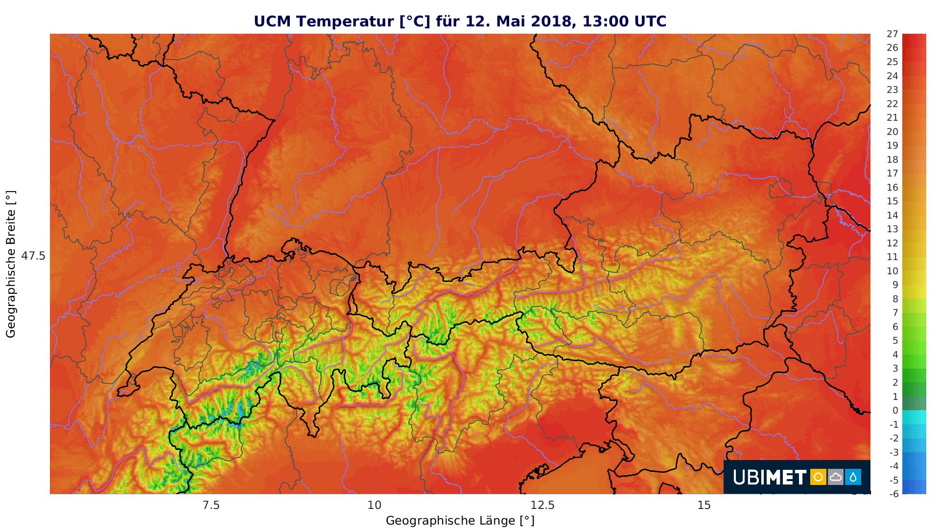 Sommerliche Temperaturen am Wochenende. © UBIMET