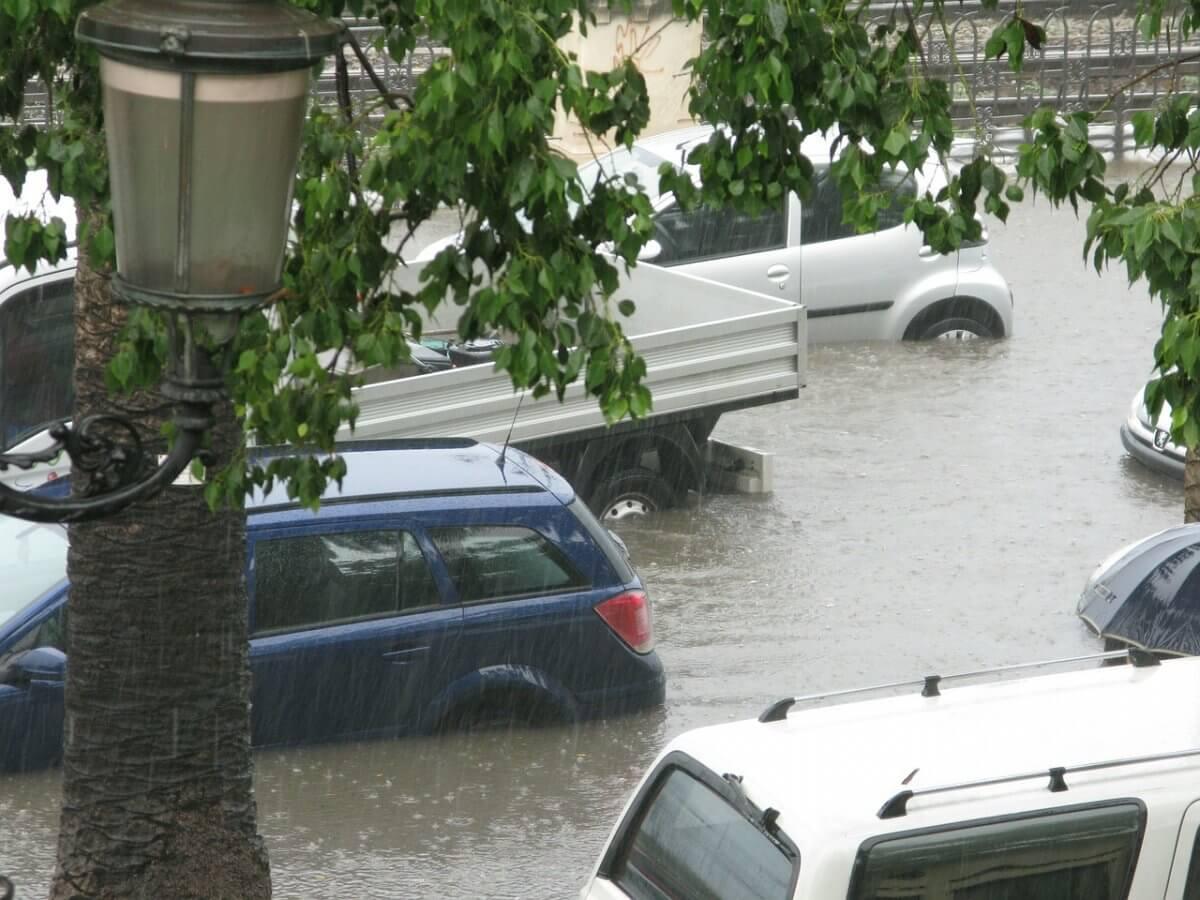 Überflutungen durch Starkregen.