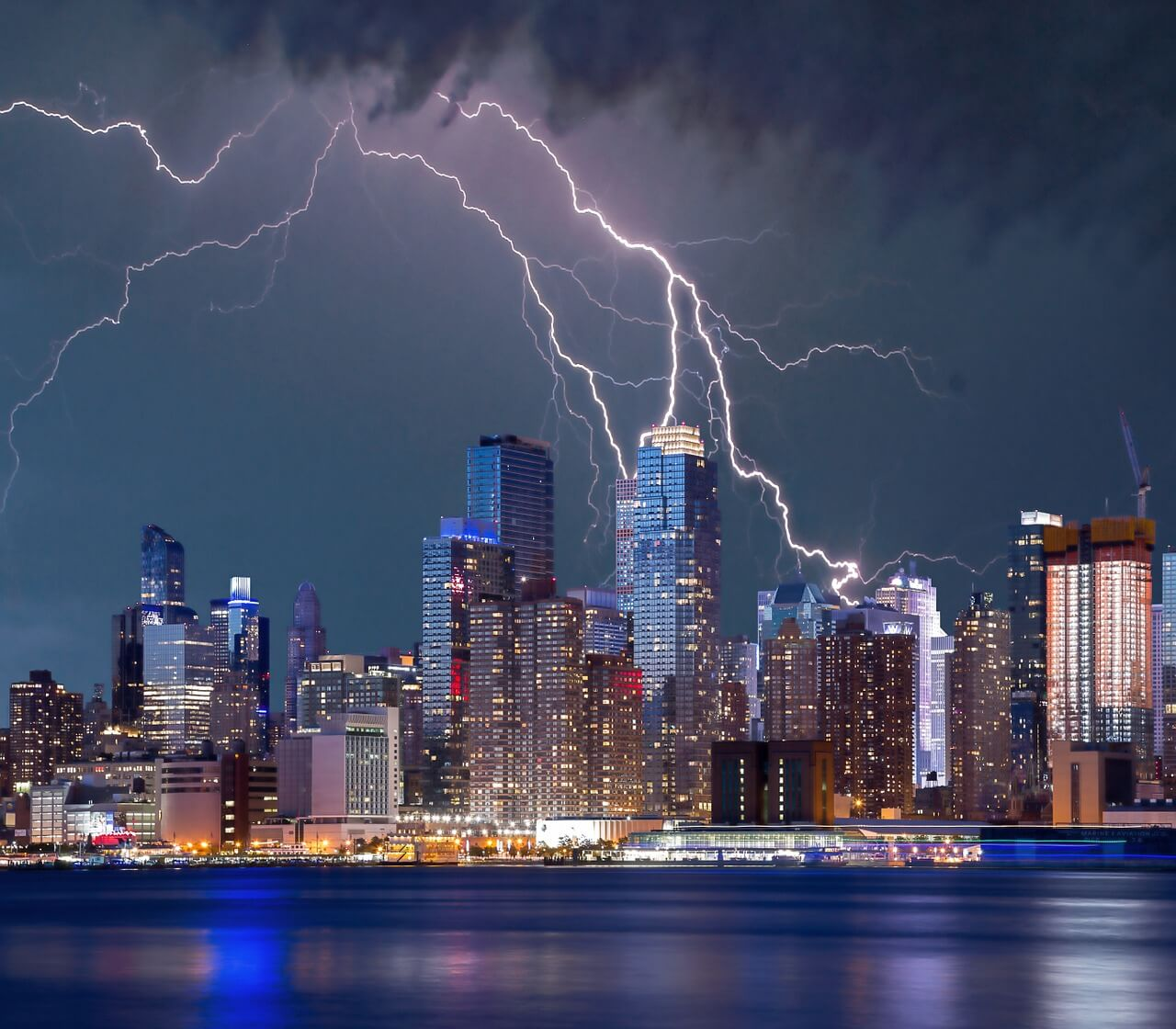 Gewitter in New York.