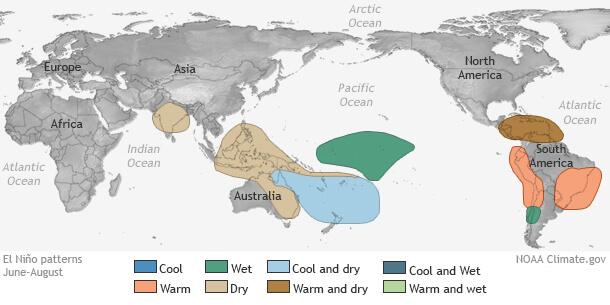 Auswirkungen von El Nino in den Sommermonaten Juni bis August