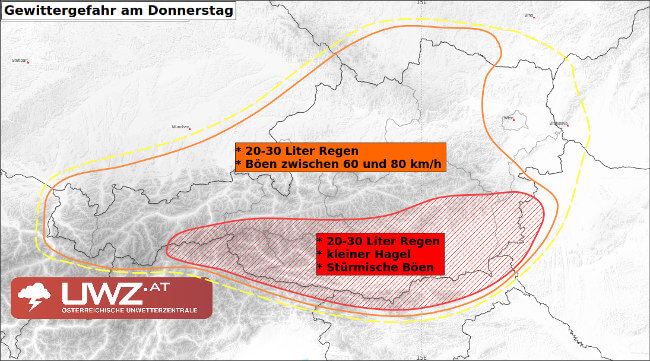 In diesen Regionen drohen am Donnerstag Gewitter!