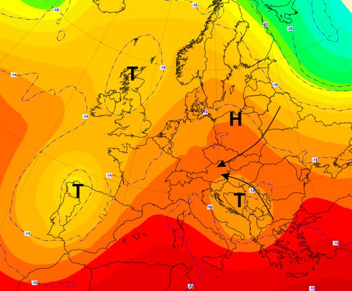 Die Wetterlage am Samstag in Europa. © UBIMET / GFS