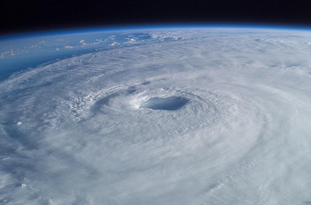 Hurrikan von oben