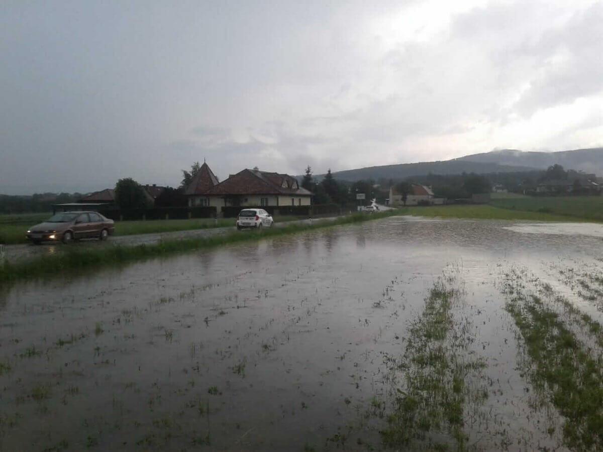 Überflutete Felder in südlichen Wiener Becken ©Roland Reiter