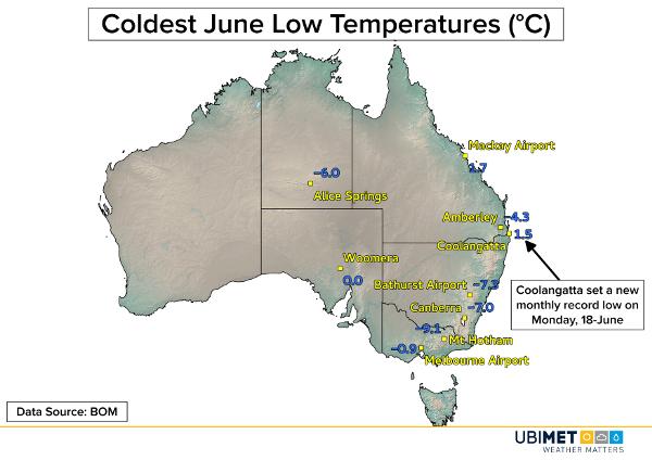 Kälterekorde im Juni in Australien