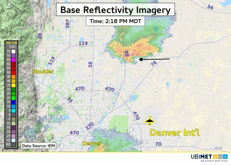 Radarbild von gestern mit Tornado