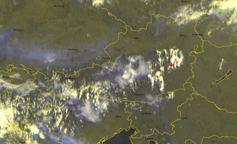 Satellitenbild von 10 Uhr ©Ubimet, Eumetsat