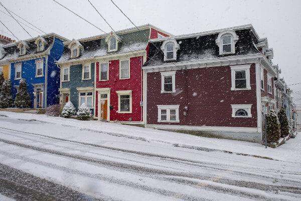 Schnee Sommer Neufundland
