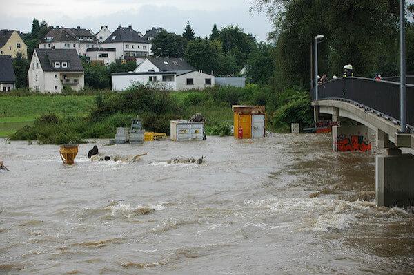 Starkregen Hochwasser in den Nordalpen