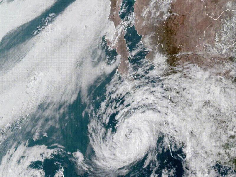 Der Tropische Sturm Bud aus dem Satelliten beobachtet. © NOAA