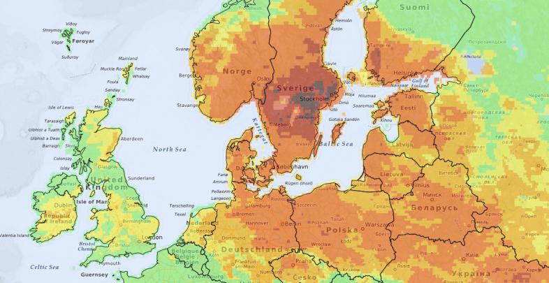 Derzeitige Waldbrandgefahr ©http://effis.jrc.ec.europa.eu