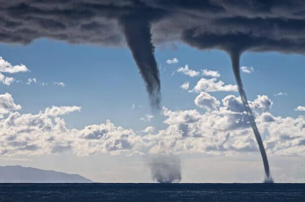 Wasserhosen im Mittelmeer © shutterstock