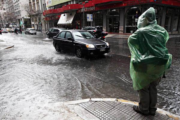 Überflutungen in Athen
