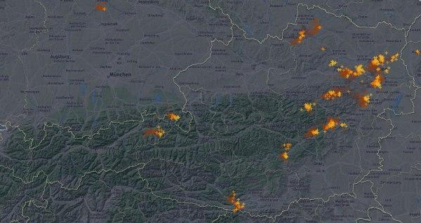 Vor allem im östlichen Flachland gibt es kräftige Gewitter.