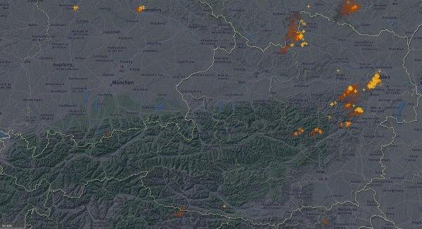 Besonders viele Blitze gibt es in Wien.