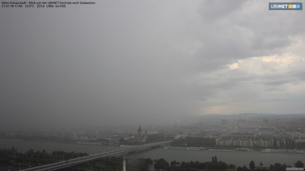 Kräftiger Regen in Wien.